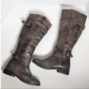 Luichiny distressed leather Tempted boots sz 6